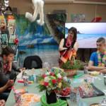 """Лято е! Време за релакс, игри и добро настроение! - ученици от 8-ми клас на МГ """"Д-р Петър Берон""""- Варна в Немска читалня"""