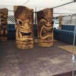 Тики от дърво, изобразяващо местни божества, характерно за хавайските майстори